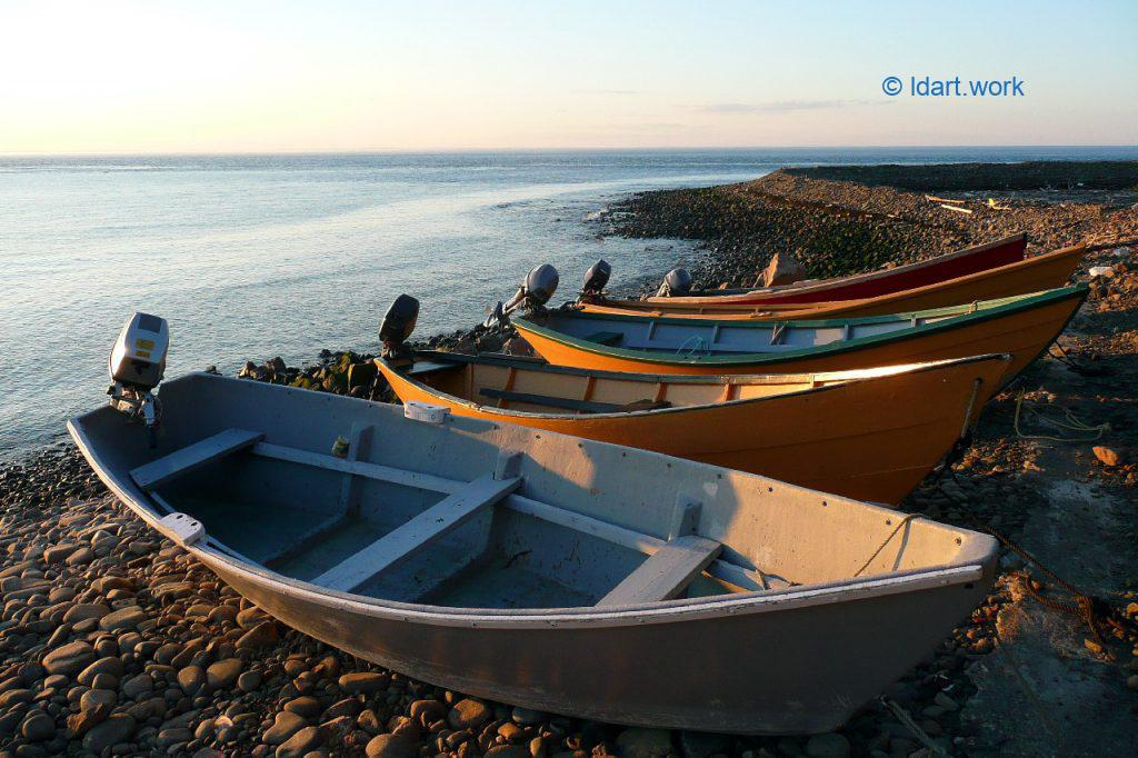 photo of dories, Grand Manan Island