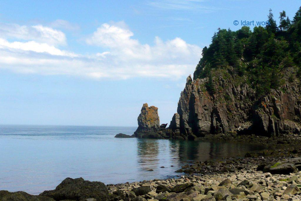 photo of the coast, Grand Manan